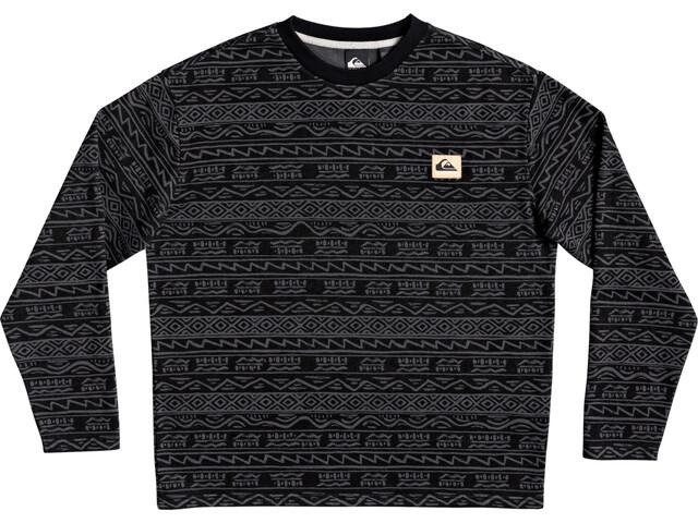 Quiksilver Heritage Printed Crew Shirt Men black tonal heritage